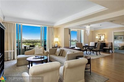Fort Lauderdale Condo/Townhouse For Sale: 1 N Fort Lauderdale Beach Blvd #1610