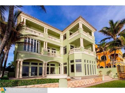 Highland Beach Single Family Home For Sale: 9 Ocean Pl