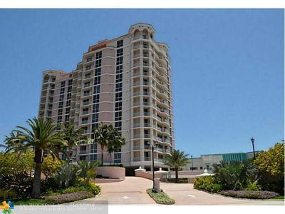 Broward County Condo/Townhouse For Sale: 1460 S Ocean Blvd #1403