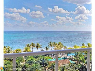 Fort Lauderdale Condo/Townhouse Sold: 3100 N Ocean Blvd #1002