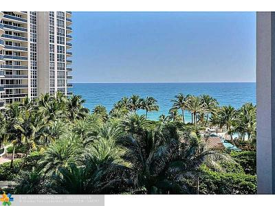 Fort Lauderdale Condo/Townhouse Sold: 3100 N Ocean Blvd #803