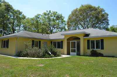 Chiefland Single Family Home For Sale: 9490 NW 15TH Avenue