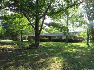 Newberry Single Family Home For Sale: 215 NW 180th Street