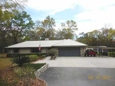 Chiefland Single Family Home For Sale: 6250 NW 94 Lane