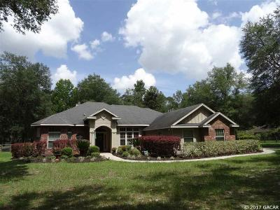 High Springs Single Family Home For Sale: 20273 NW 251st Terrace