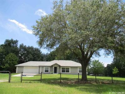 Alachua Single Family Home For Sale: 13010 NW 202nd Street