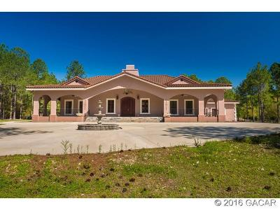 Alachua Single Family Home For Sale: 18910 NW 78th Avenue