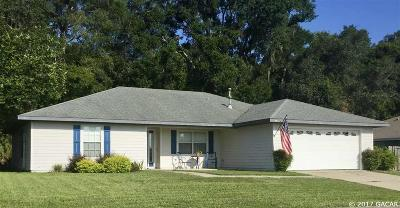 Newberry Single Family Home For Sale: 340 NW 233rd Ter