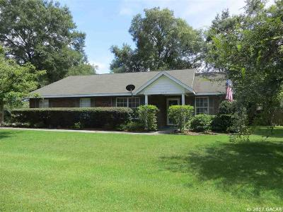 Newberry Single Family Home For Sale: 25317 SW 20TH Avenue