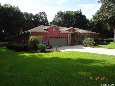 Chiefland Single Family Home For Sale: 11650 NW 68th Terrace