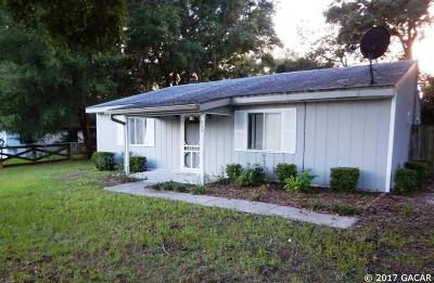Newberry Single Family Home For Sale: 320 SW 264TH Street