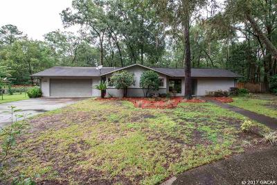 Gainesville Single Family Home For Sale: 5302 NW 54th Court