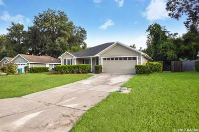 Alachua Single Family Home For Sale: 7468 NW 121st Lane
