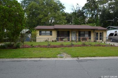 Gainesville FL Single Family Home For Sale: $92,000