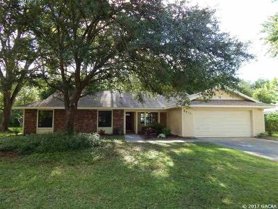 Gainesville Single Family Home For Sale: 4410 NW 46th Terrace
