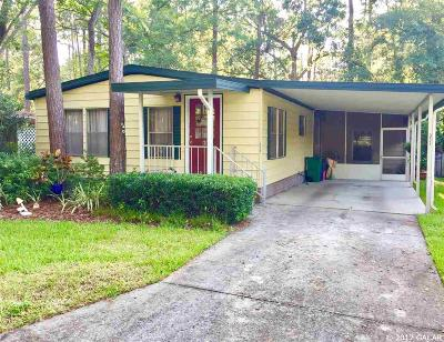 Gainesville FL Single Family Home For Sale: $72,000