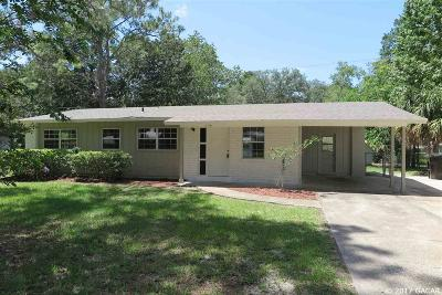 Gainesville Single Family Home For Sale: 3118 NE 12TH Street
