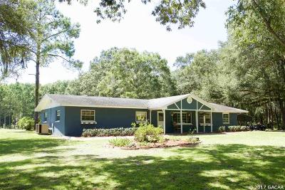 Chiefland Single Family Home For Sale: 15450 NW 60TH Avenue
