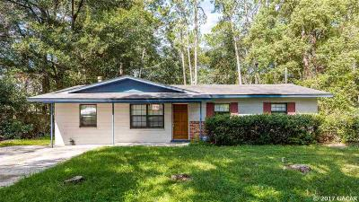 Gainesville FL Single Family Home For Sale: $103,000