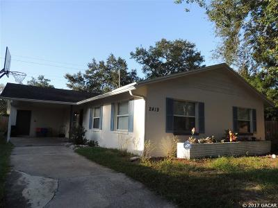 Gainesville FL Single Family Home For Sale: $114,900