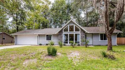 Gainesville Single Family Home For Sale: 7225 SW 18th Place