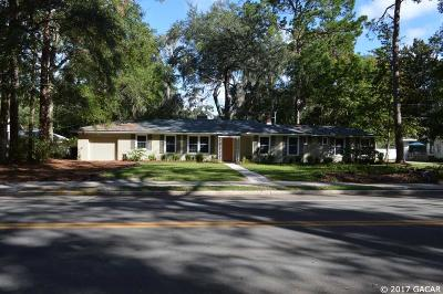 Gainesville Single Family Home For Sale: 1626 NW 7TH Avenue