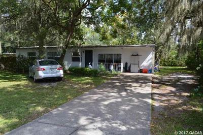 Gainesville Single Family Home For Sale: 1605 NE 7 Street