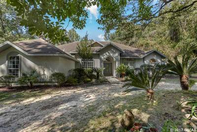 Alachua Single Family Home For Sale: 15640 NW 180TH Avenue