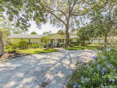 Newberry Single Family Home For Sale: 25403 SW 19 Avenue