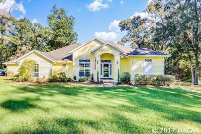 Alachua Single Family Home For Sale: 14660 NW 174TH Avenue