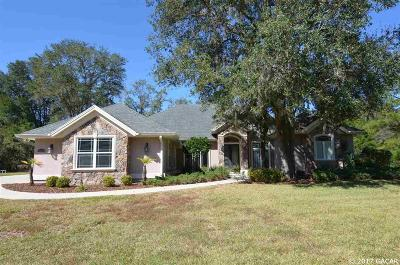 Newberry Single Family Home For Sale: 16884 NW 2nd Road