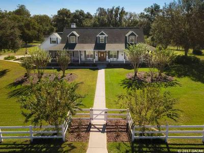 Micanopy Single Family Home For Sale: 22550 N Highway 441