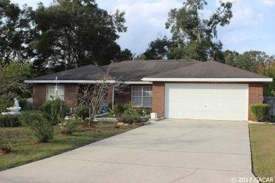 Newberry Single Family Home For Sale: 25220 SW 19TH Avenue