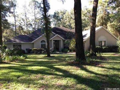 Gainesville Single Family Home For Sale: 8709 SW 42nd Place