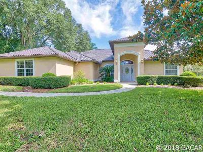 Alachua Single Family Home For Sale: 18714 NW 78TH Avenue