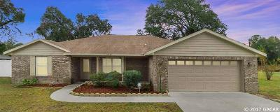 Newberry Single Family Home For Sale: 25102 SW 20th Avenue