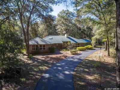 Gainesville Single Family Home For Sale: 7011 SW 97TH Lane