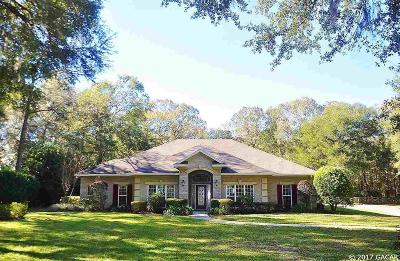 Gainesville Single Family Home For Sale: 1512 SW 115th Street