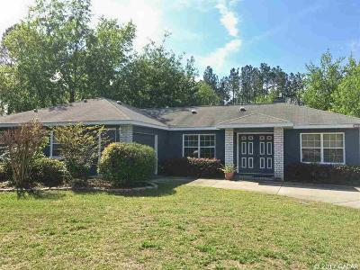 Alachua Single Family Home For Sale: 17627 NW 177TH Avenue