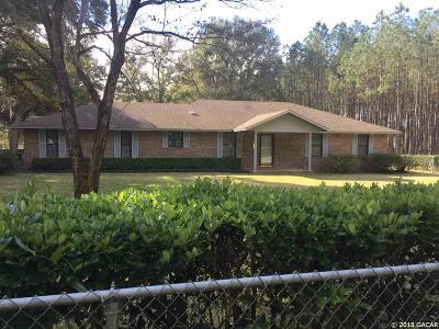 Alachua Single Family Home For Sale: 16613 NW 70TH Avenue