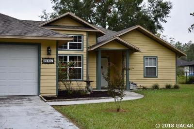 Newberry Single Family Home For Sale: 26827 NW 3RD Place