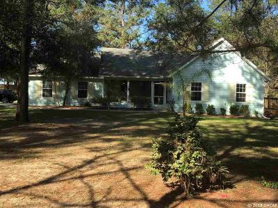 Alachua Single Family Home For Sale: 28342 NW 181st Drive