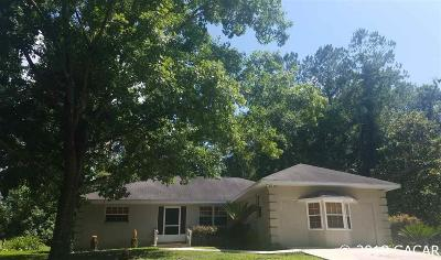 Gainesville Single Family Home For Sale: 9327 NW 59TH Terrace