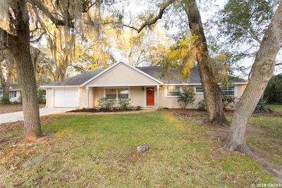 Gainesville Single Family Home For Sale: 3325 NW 34TH Terrace