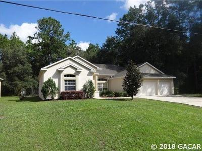 Dunnellon Single Family Home For Sale: 167 E Imree Lane