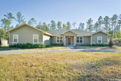 McIntosh Single Family Home For Sale: 6300 NW 202 nd Place