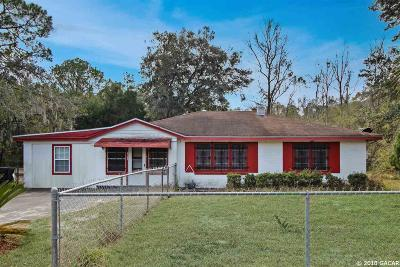 Gainesville FL Single Family Home For Sale: $78,000