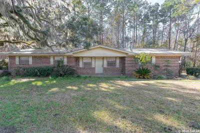 Gainesville Single Family Home For Sale: 1923 NW 156TH Avenue