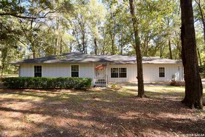 Gainesville Single Family Home For Sale: 4001 SW 100 Way