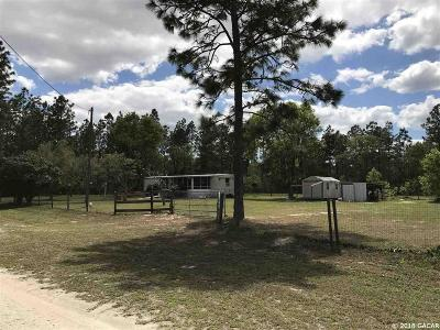 Williston FL Single Family Home For Sale: $42,500